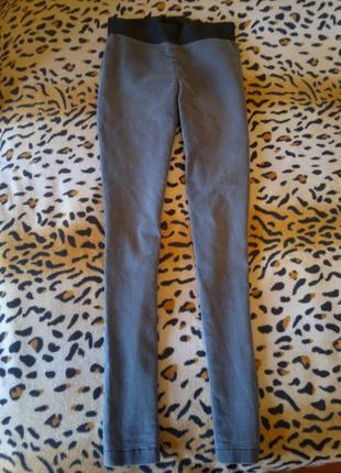 Серые джеггинсы скинни с высокой талией на резинке джинсы можно беременным американки