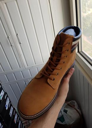Tommy hilfiger оригинал   новые кожаные ботинки