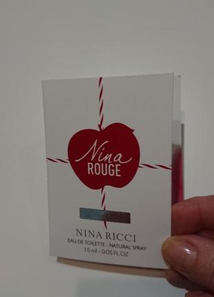 Пробник духов nina rouge от nina ricci