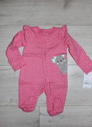 Хлопковый человечек carters пижама слип для новорожденной