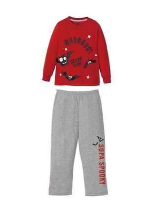 Трикотажная пижама для мальчика светится в темноте р. 98-104