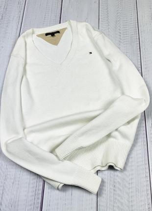 Свитер tommy hilfiger original лонгслив кофта свитшот m женский белый
