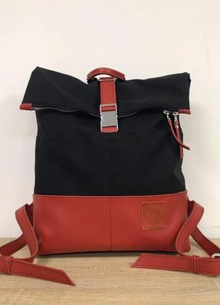 Рюкзак кожа+ текстиль