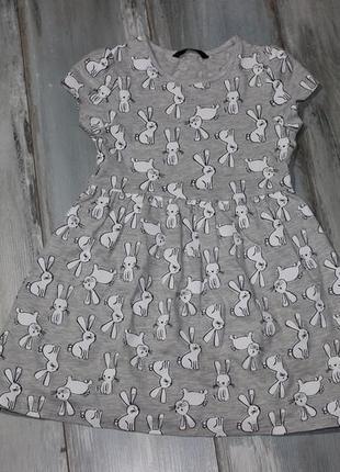 Платье в зайку 5-6 лет george