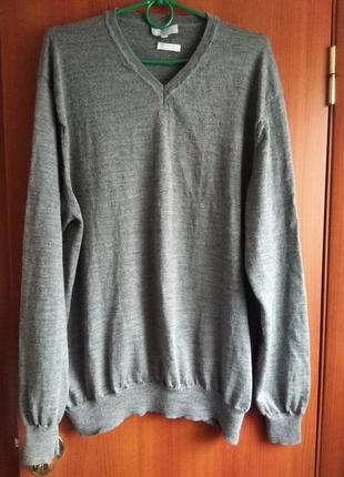 100% шерсть отличный джемпер/свитер/пуловер мужской maddison