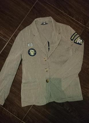 Вельветовый пиджик на мальчика 140 h&m