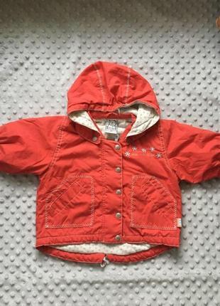 Курточка h&m,красная куртка, курточка на 6-9 мес