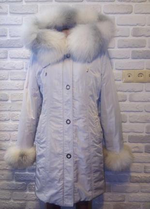 Пальто-плащ,шуба,шубка,полушубок! плащёвка+песец+кролик! капюшон!