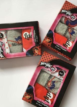 Набір трусиків для дівчинки з героями мультфільму ladybug