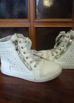 Ботинки со стразами