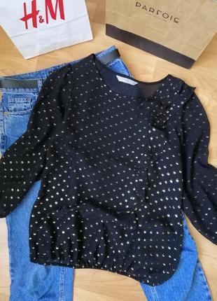 Блуза с блестками оборками рюшами