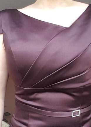 Роскошное вечернее, коктейльное, нарядное платье.фирменное.. цвет шоколад