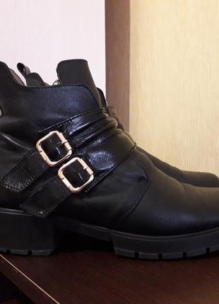 Кожаные деми сезонные ботинки