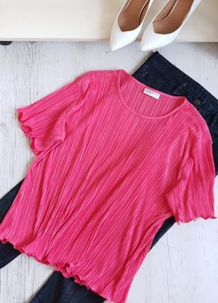 Розовая блуза гофре.