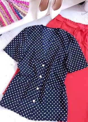 Блуза в горошек.