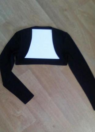 Стрейчевое болеро черного цвета #sale
