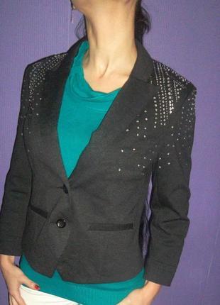 Шикарный жакет/пиджак h&m с камнями,стразами