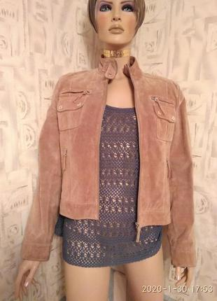 Оригинальная куртка бренда vera pelle conbipel s.p.a.из натуральной замши