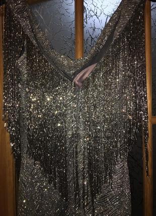 Неймовірне срібне плаття2 фото
