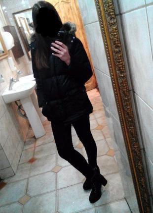Зимняя куртка ( пуховик ), очень теплая.