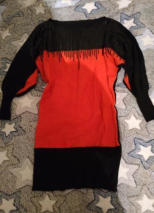 Стильная туника,мини платье в стиле летучая мышь, размер универсальный