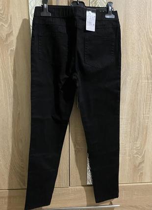 Базовые черные джегеннсы, повседневные черные штаны,актуальные черные джегенсы м,л,хл.3 фото
