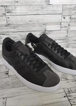 Мужские кроссовки / кросівки / кеди / кеды adidas vl court black (42/43/44)