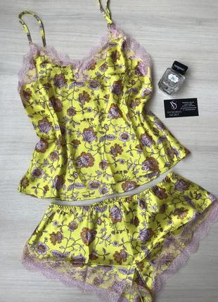 Новая коллекция! атласная / сатиновая пижама , одежда для дома от виктория сикрет