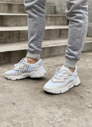 Adidas ozweego шикарные женские кроссовки замшевые /весна/лето/осень😍