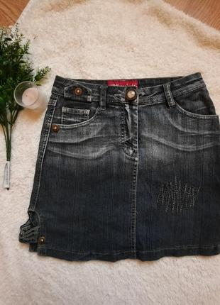 Джинсовая мини юбка короткая