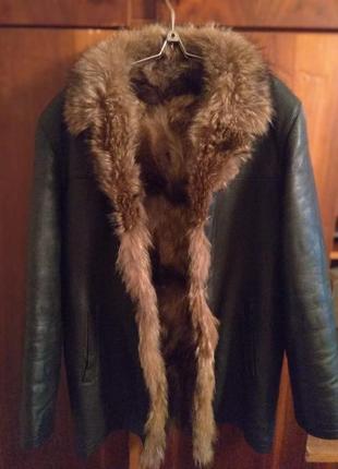 Мужская куртка, натуральная кожа
