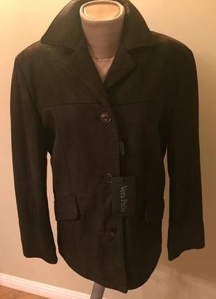 Новая натуральная кожаная куртка от итальянского бренда vera pelle пиджак