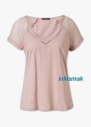 Модал блуза футболка ажурные вставки c&a германия