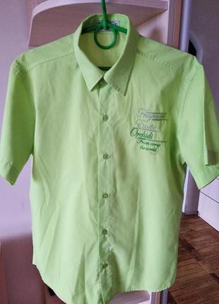 Очень красивая хлопковая рубашка для мальчика, юноши, качество.,р36/s/.44