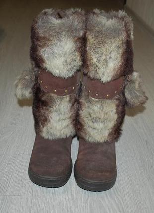 Зимние сапоги замша 38 24 см