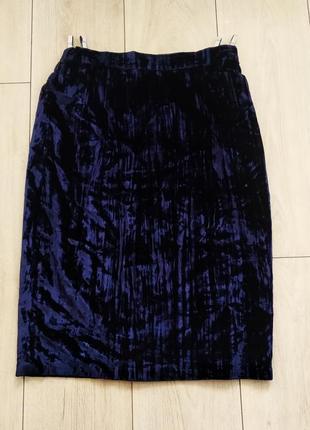 Синяя бархатная юбка garry webber размер с