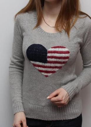 Шикарный шерстяной свитерок tommy hilfiger