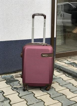 Акция! чемодан пластиковый маленький для ручной клади / валіза пластикова
