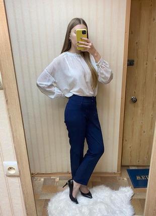 Синие брюки классика по лекалу zara