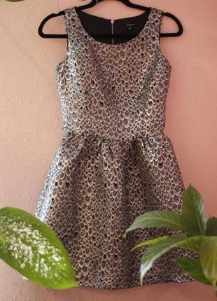 Пышное серебристое платье reserve
