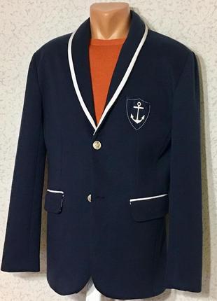 Стильный пиджак в морском стиле 👩✈️  💙⛴