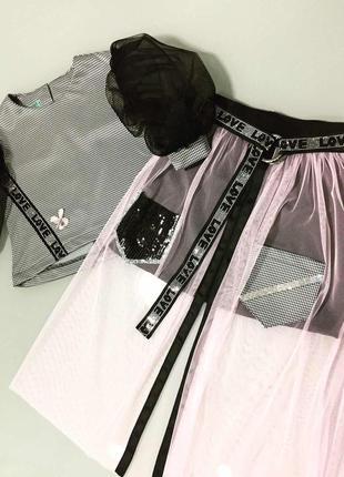 Очень красивый, стильный и удобный комплект кофта + юбка