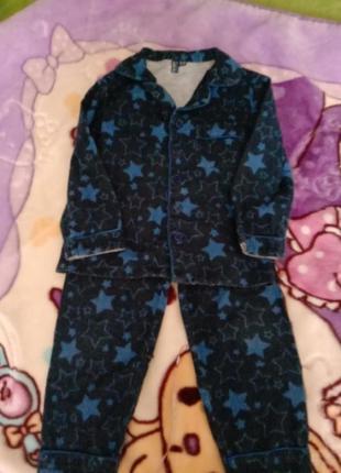 Теплая пижама фланель байка