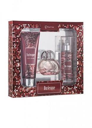Парфюмированный набор burlesque (парфюмированная вода 50мл,дымка для тела,лосьон для тела)