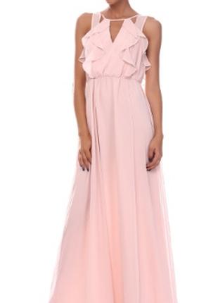 Платье пудра сша в пол макси