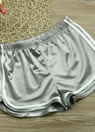 Женские шорты для пляжа и спорта caroset серебро атлас l2 фото