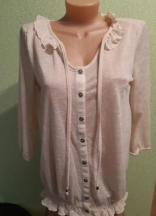 Бежевая блуза туника