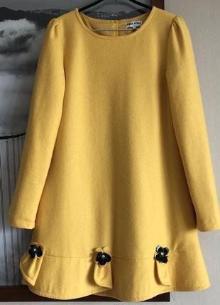 Платье miu miu оригинал желтое м