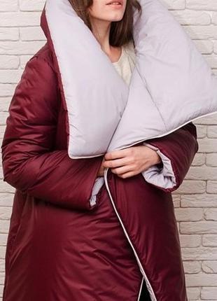 Пуховик-ковдра (пуховик-одеяло ) марсала1