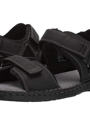 Кожаные сандалии clarks malone shore мужские, очень классные
